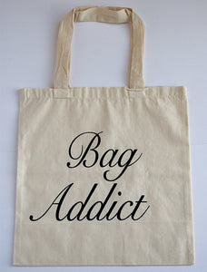 Bag Addict Canvas Tote Bag