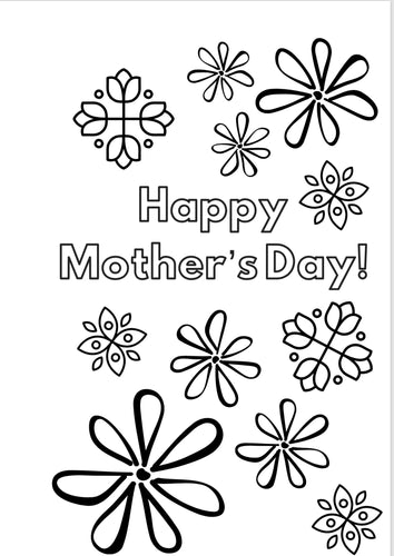 "DIGITAL DOWNLOAD- Mother's Day Card ""Flower Power"""