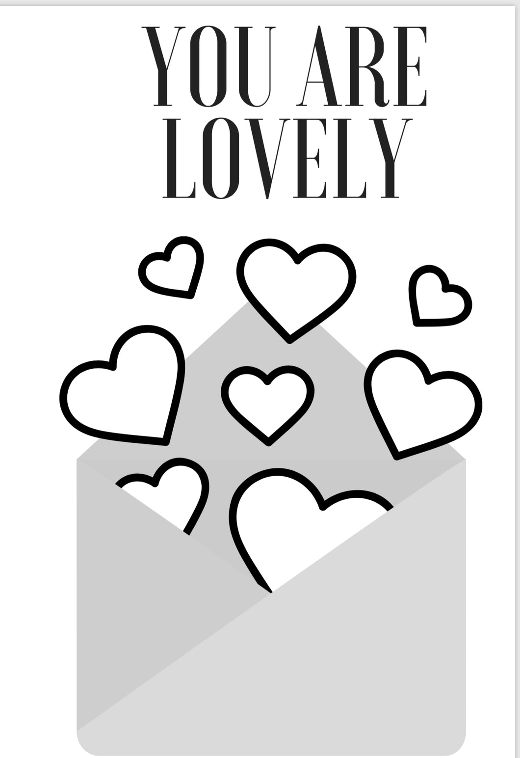 "DIGITAL DOWNLOAD- Mother's Day Card ""Lovely"""