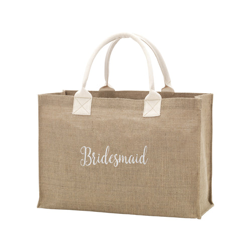 Bridesmaid Burlap Tote