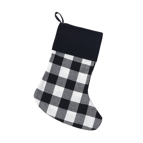 Black Buffalo Check Stocking