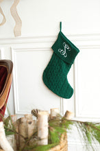 Cable Knit Stocking - Hunter Green