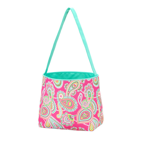 Pink Paisley Easter Basket