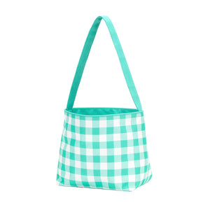 Check Easter Basket - Mint