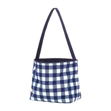 Check Easter Basket - Navy