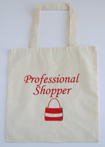 Professional Shopper Canvas Tote Bag