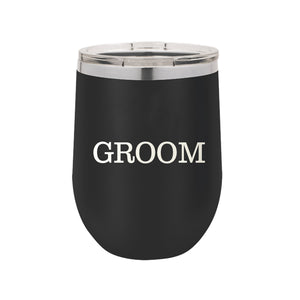 Groom Wine Tumbler