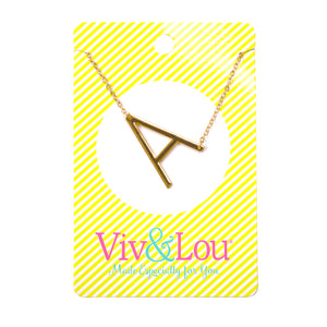 Gold Initial Jewelry - A