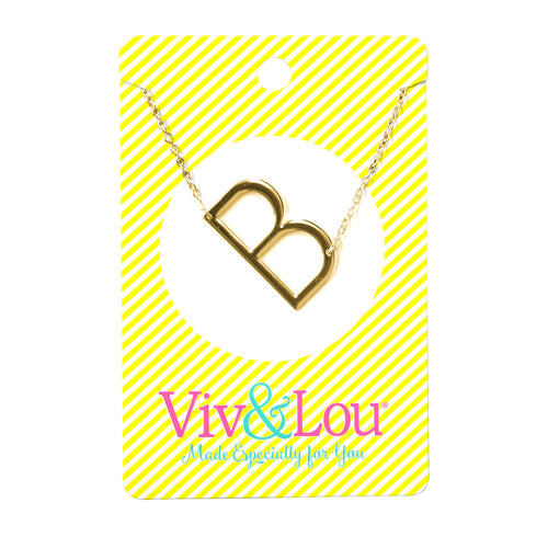 Gold Initial Jewelry - B