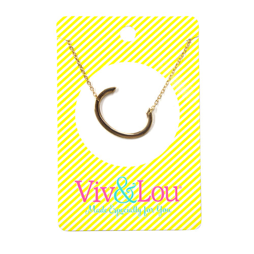 Gold Initial Jewelry - C