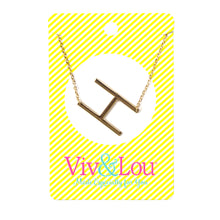 Gold Initial Jewelry - H