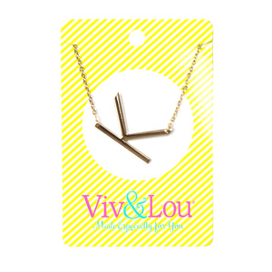 Gold Initial Jewelry - K