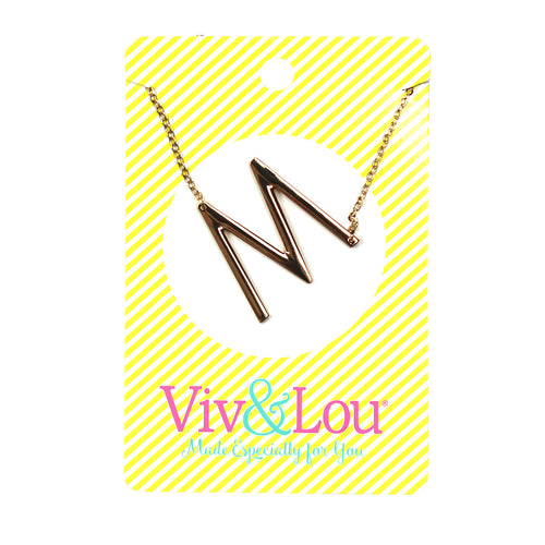Gold Initial Jewelry - M
