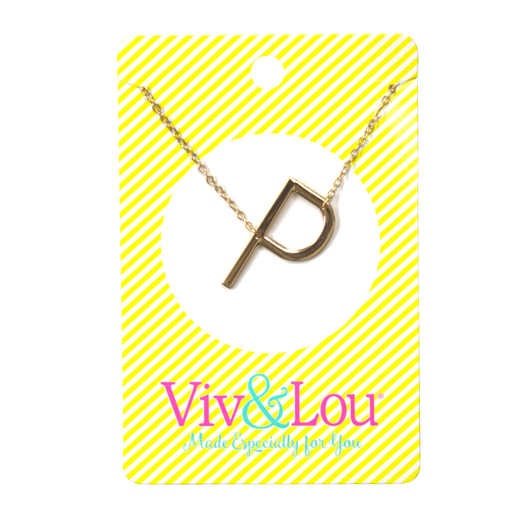 Gold Initial Jewelry - P
