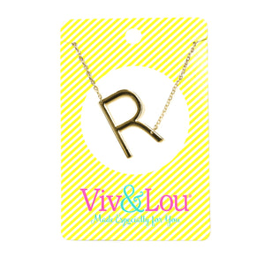 Gold Initial Jewelry - R