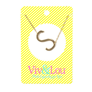 Gold Initial Jewelry - S
