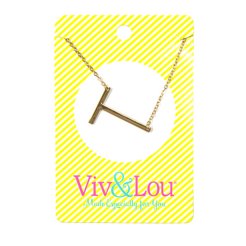 Gold Initial Jewelry - T