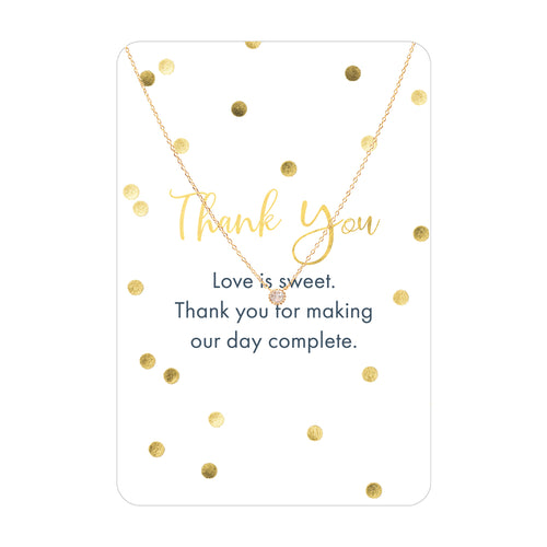 Thank you Necklace Card
