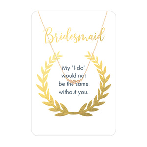 Bridesmaid Necklace Card