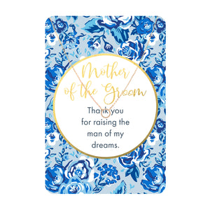 Mother of the Groom Necklace Card