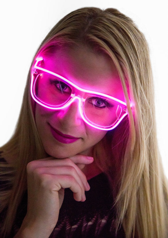 Sunglasses, Glow Day or Night, Light Up, Rave Wear, Tron, Costume, LED, Batteries