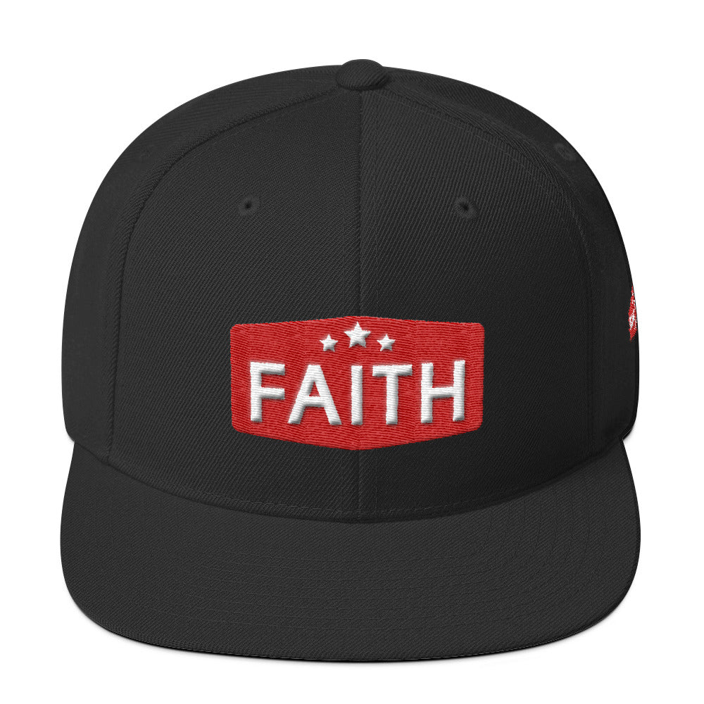 Faith: Wool Blend Snapback