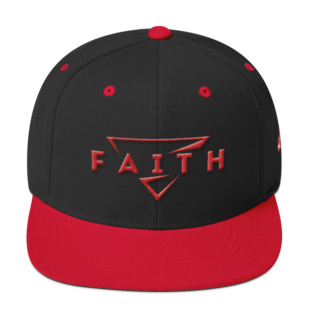 Faith: Red&black  Snapback