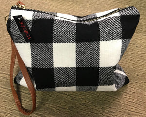 Buffalo Plaid Makeup Bags