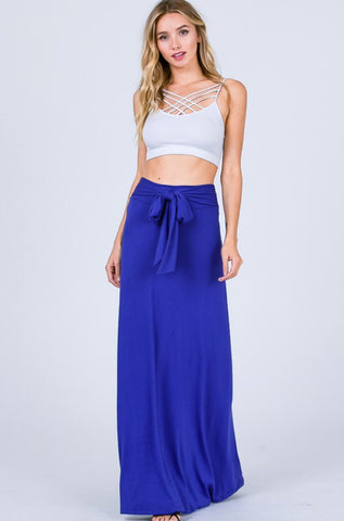 Rachel Maxi Skirt with Tie Waist