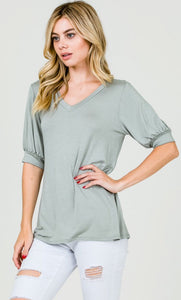 Sara Puffy Sleeve Top