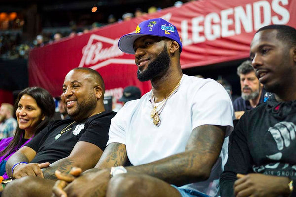 LeBron James in a Standard Issue Tee And Shorts At NBA Summer League 2019