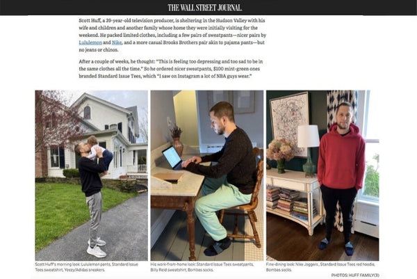 Our Standard Sweatpants Were Spotted on The Wall Street Journal