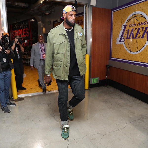 LeBron James spotted entering the Staples Center in The Standard Issue Tee