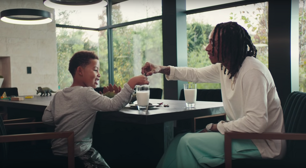 Wiz Khalifa wearing The Standard Sweatpants and Long Sleeve in the new Oreo Commercial