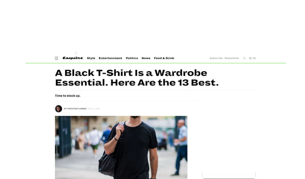Standard Issue Tee Featured in Esquire's A Black T-Shirt Is a Wardrobe Essential