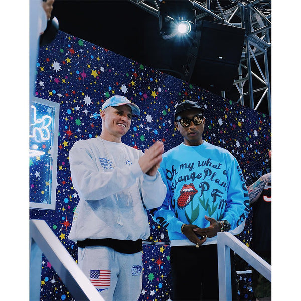 Jimmy Gorecki Catches Up With Pharrell At ComplexCon