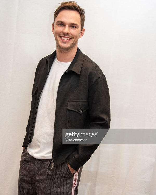 Nicholas Hoult Spotted in Standard Issue for the HFPA Press Conference