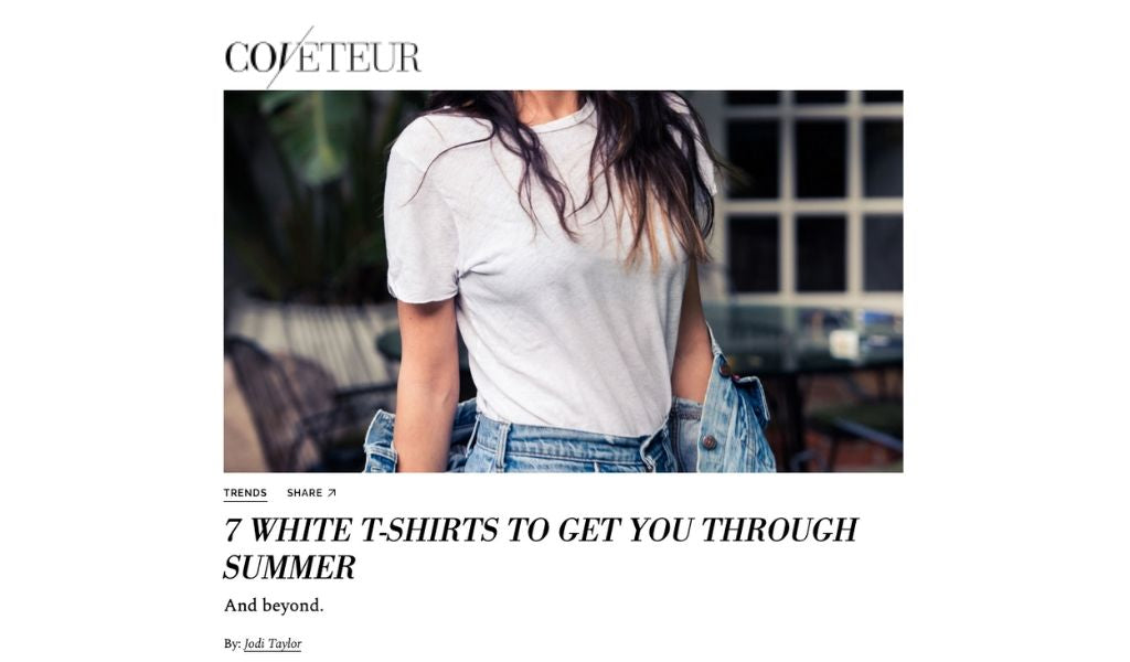 Coveteur x Standard Issue Tees