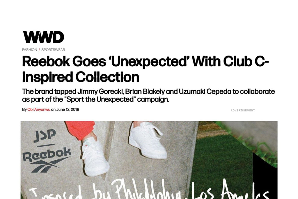 WWD Reebok Goes 'Unexpected' With Club C-Inspired Collection