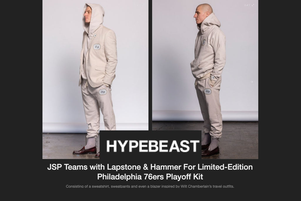 Hypebeast JSP Teams with Lapstone & Hammer For Limited-Edition Philadelphia 76ers Playoff Kit