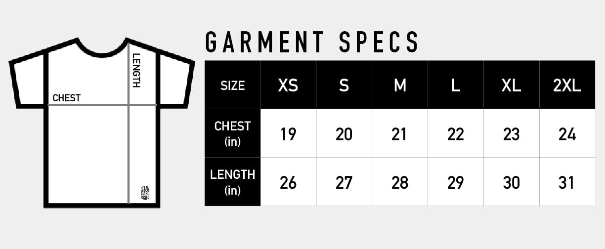 Standard Issue - T-Shirt Garment Specs
