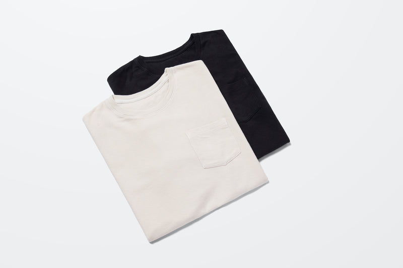 PIQUE POCKET TEE BLACK