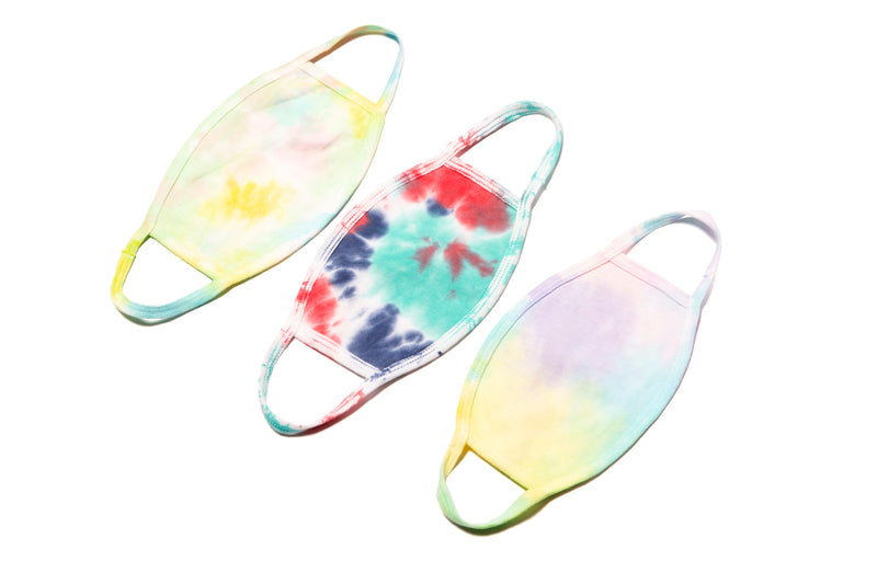 COTTON MASK TIE DYE MULTI PACK - THREE PACK