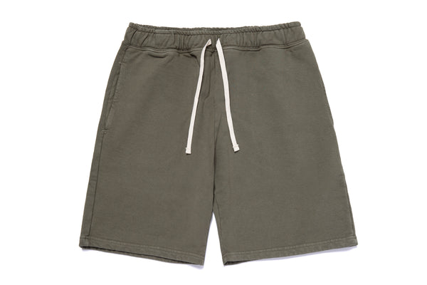 STANDARD SWEAT SHORTS BURNT OLIVE
