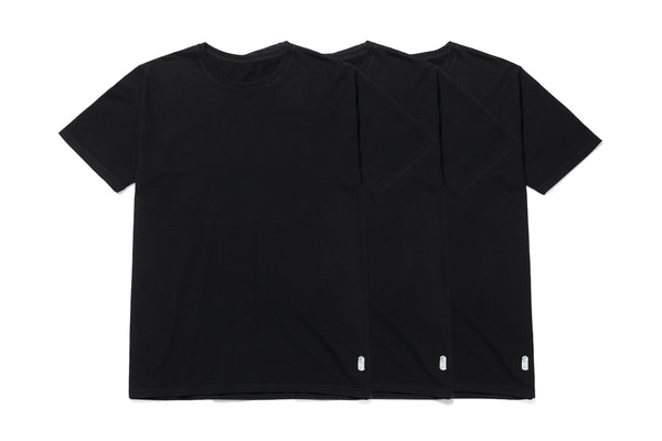 THREE PACK BLACK TEES