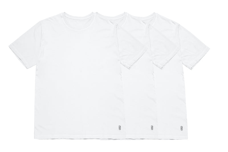 THREE PACK WHITE TEES