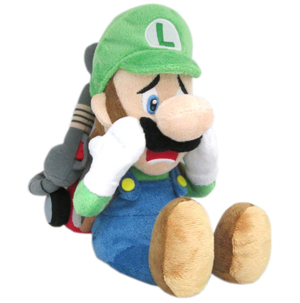 "Little Buddy Super Mario Series Scared Luigi w/ Strobulb Plush 10"" Super Anime Store"