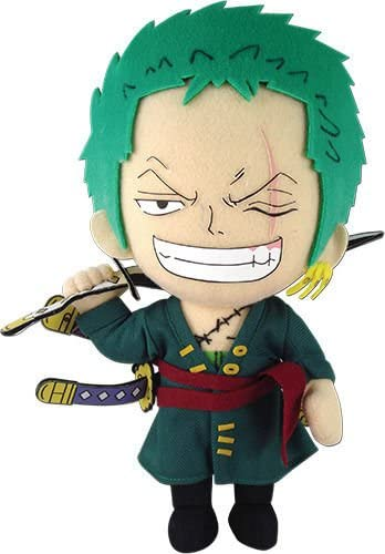 "Great Eastern One Piece: Roronoa Zoro New World Plush, 9"" Super Anime Store"