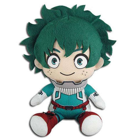"Great Eastern My Hero Academia: Izuku Midoriya Hero Costume Sitting Down Plush 8"" - Super Anime Store FREE SHIPPING FAST SHIPPING USA"