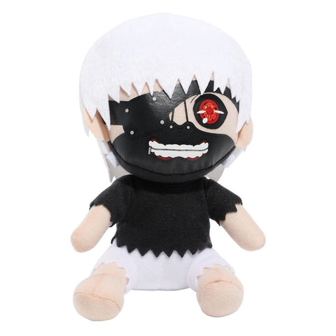 "Great Eastern Tokyo Ghoul: Mask Kaneki White Hair Sitting Pose Plush, 7"" - Super Anime Store FREE SHIPPING FAST SHIPPING USA"